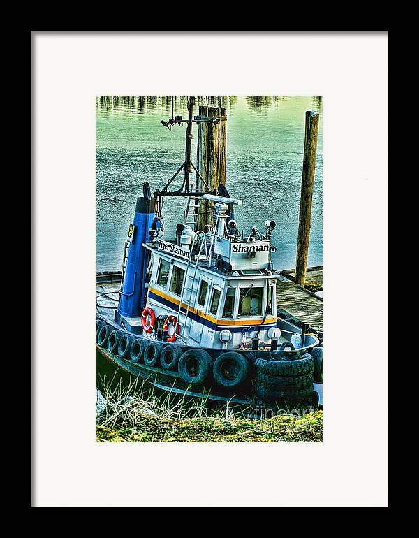 Boats Framed Print featuring the photograph Shaman Tug-hdr by Randy Harris