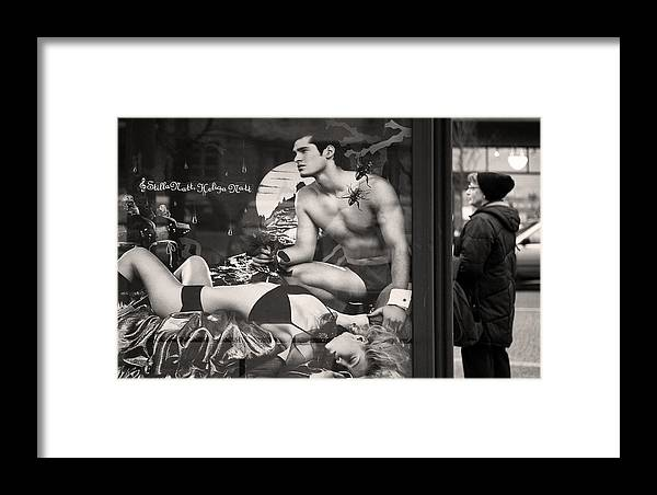 Ad Framed Print featuring the photograph Shame On You Two...stockholm by Stelios Kleanthous