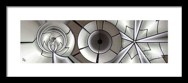 Collage Framed Print featuring the digital art Shaped Platinum by Ron Bissett