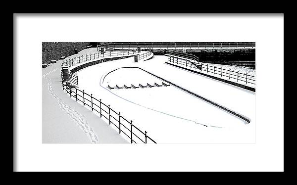 Hartlepool Framed Print featuring the photograph Shapes In The Snow by Barry Hayton