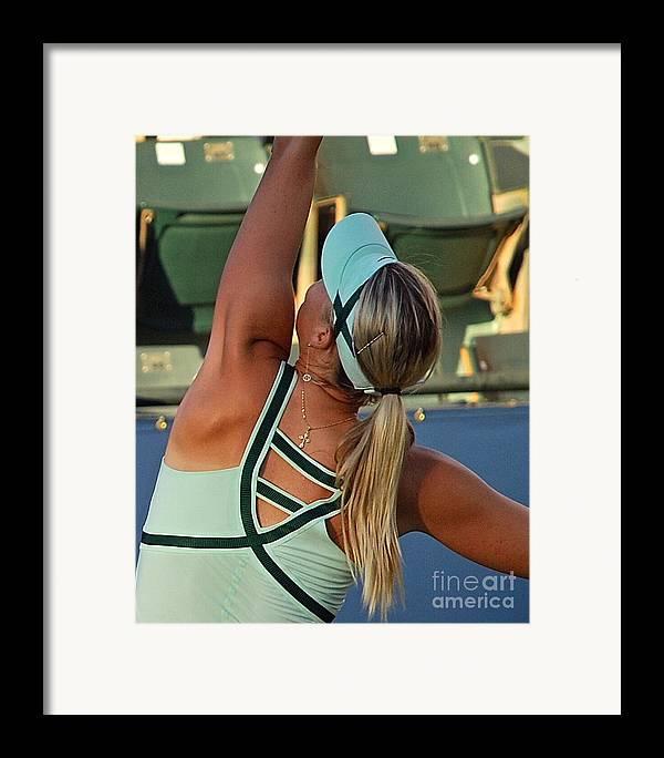 Maria Sharapova Framed Print featuring the photograph Sharapova Russian Cross by Amy Fearn