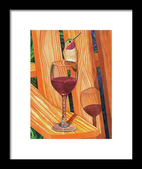 Hummer Framed Print featuring the painting Sharing by Catherine G McElroy