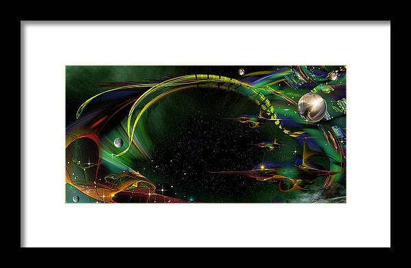 Phil Sadler Framed Print featuring the digital art Sharks by Phil Sadler