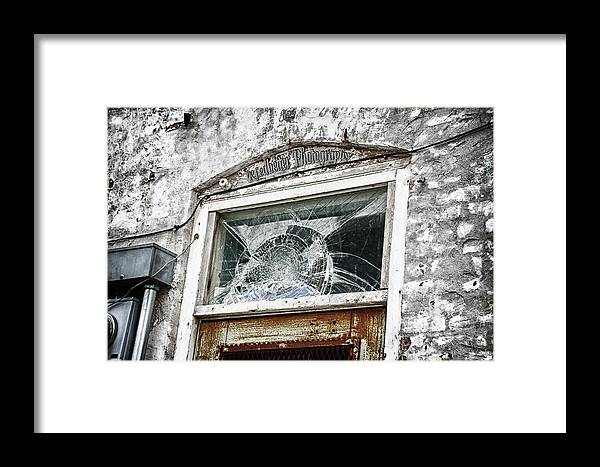 Window Framed Print featuring the photograph Shattered by Renee Ledbetter