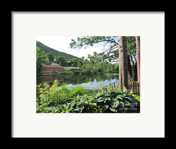 Shelburne Falls Framed Print featuring the photograph Shelburne Falls by Randi Shenkman