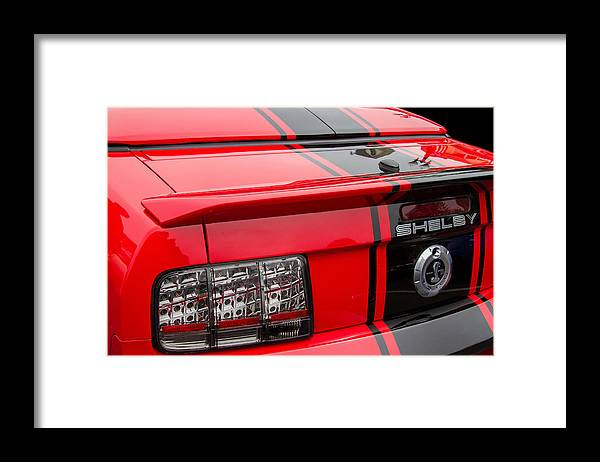 Shelby Gt500 Mustang Framed Print featuring the photograph Shelby Gt500 Convertible by Roger Mullenhour