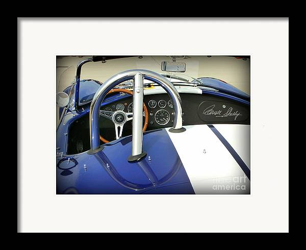 Carroll Shelby Framed Print featuring the photograph Shelby Signed Cobra by Karyn Robinson