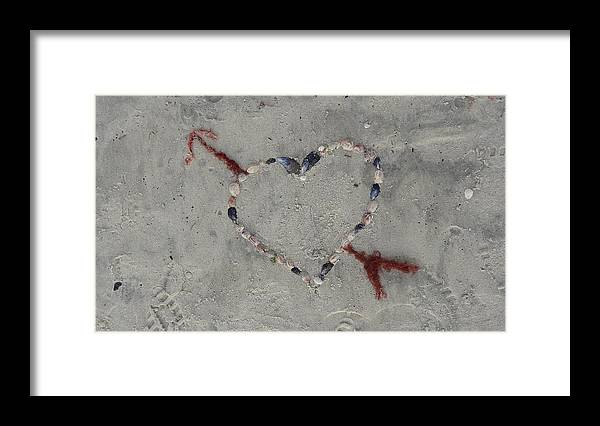 Heart Framed Print featuring the photograph Shells of the Heart by Jessica Cruz