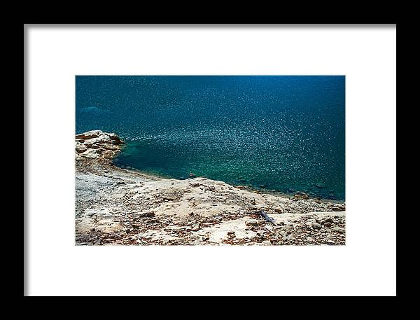 Water Framed Print featuring the photograph Shimmering Azure Water by Jenny Rainbow