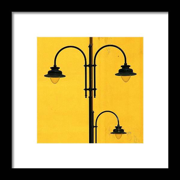 Decorative Framed Print featuring the photograph Shine On.. #italy #lamppost by A Rey