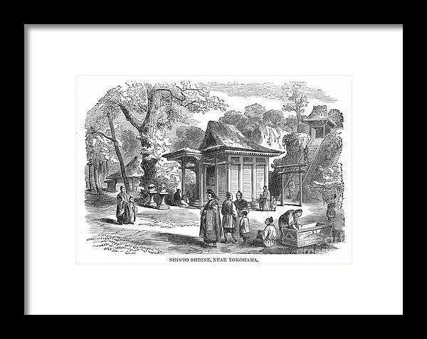 19th Century Framed Print featuring the photograph Shinto Shrine, 19th Century by Granger
