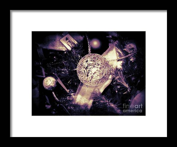 Card Framed Print featuring the photograph Shiny and Bright by Nancy Dole McGuigan
