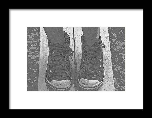Shoes Framed Print featuring the photograph Shoes by Eduan Heyns