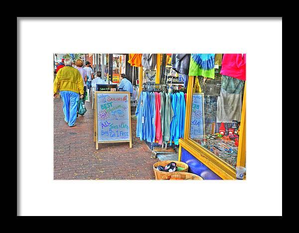 Shop Framed Print featuring the digital art Shopping by Barry R Jones Jr