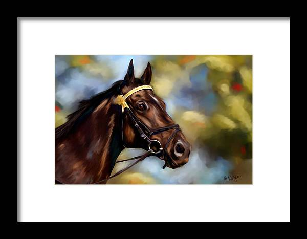 Horse Framed Print featuring the painting Show Horse Painting by Michelle Wrighton
