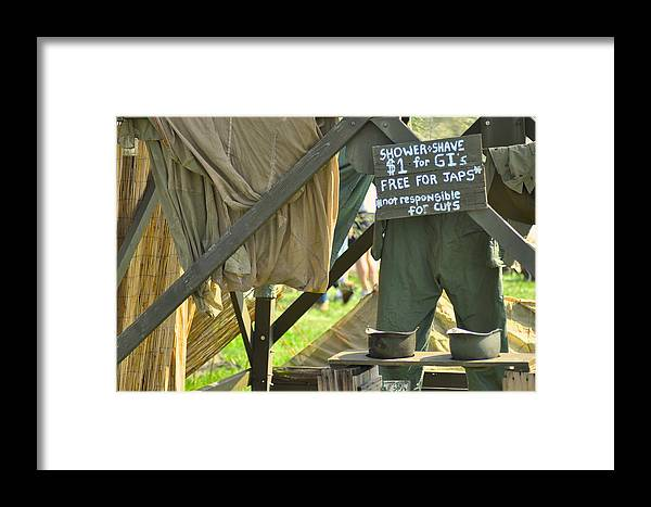 Shower Framed Print featuring the photograph Shower And Shave by Rachel Rodgers