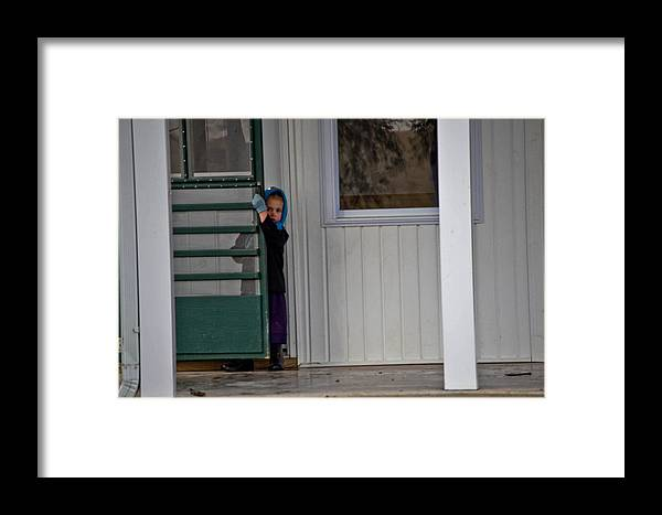 Amish Framed Print featuring the photograph Shy Girl by Brenda Becker