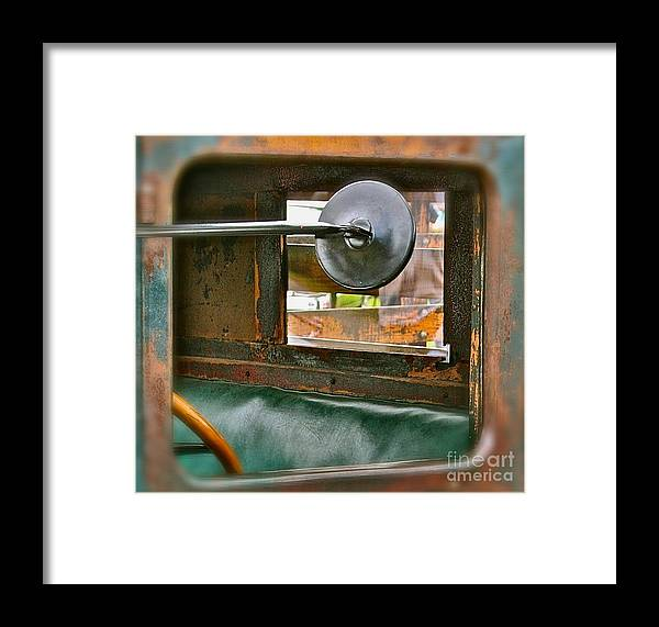 Old Truck Framed Print featuring the photograph Side View Window by David Hubbs