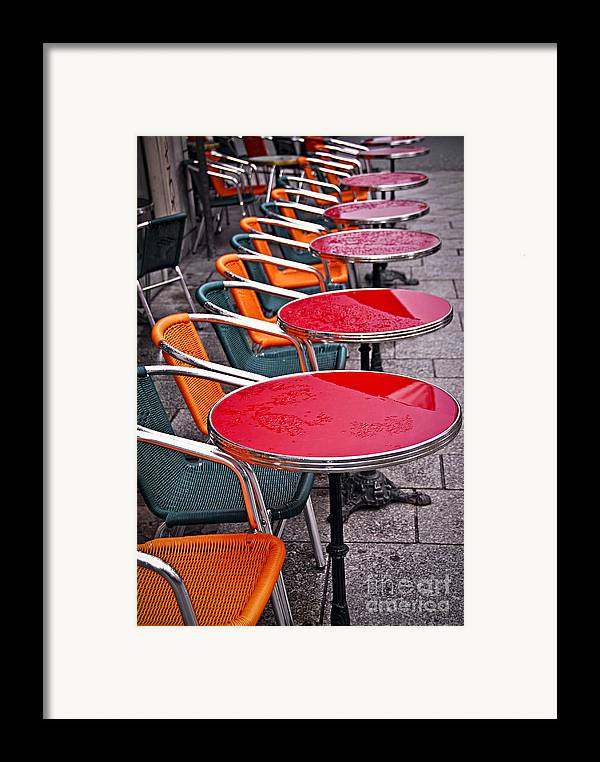 Cafe Framed Print featuring the photograph Sidewalk Cafe In Paris by Elena Elisseeva