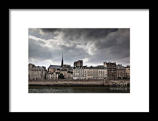 4th Arrondissement Framed Print featuring the photograph Siene River Scene Paris by Ei Katsumata