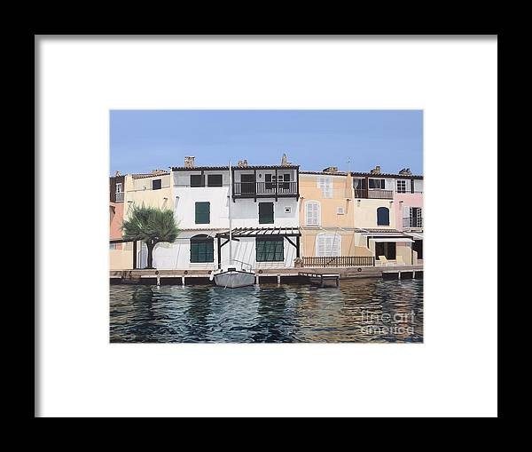 Grimaud Framed Print featuring the painting Sieste by Carina Mascarelli