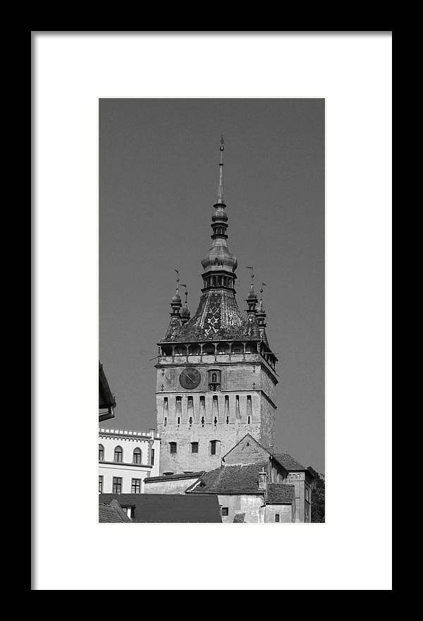 Old Town Framed Print featuring the photograph Sighisoara old town by Amalia Suruceanu