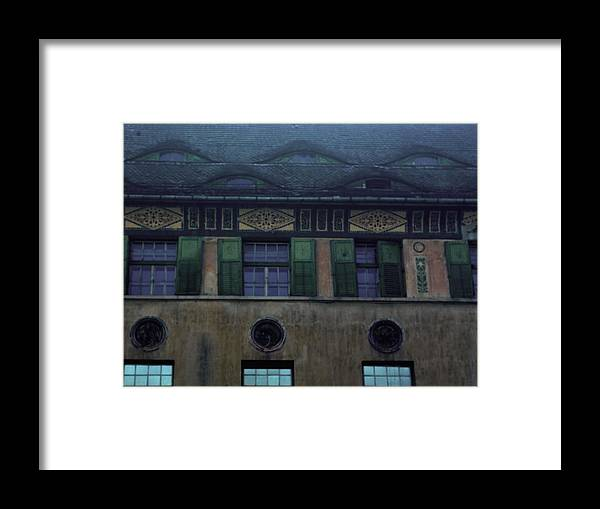 Sighisoara Framed Print featuring the photograph Sighisoara Old Town Eyes by Amalia Suruceanu