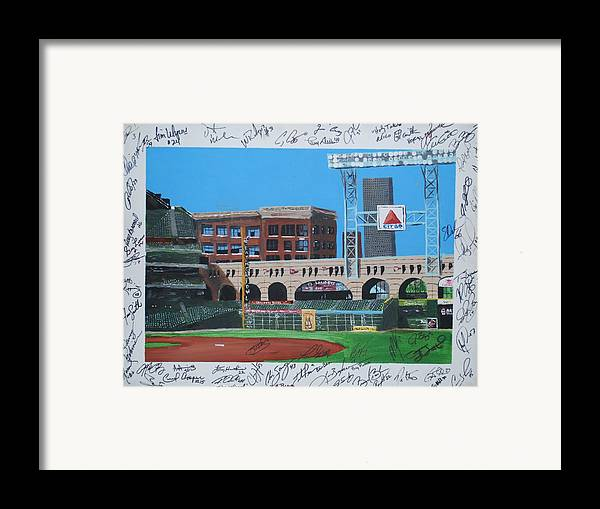 Autographed Framed Print featuring the painting Signed Minute Maid by Leo Artist