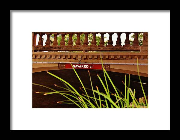 Framed Print featuring the photograph Signs Of The Past by Barbara Langdon