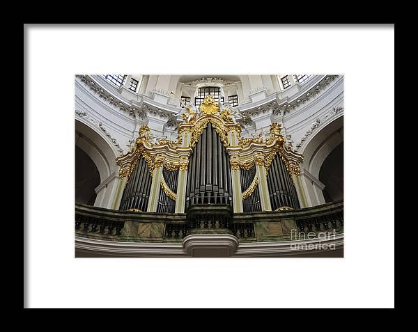 Architecture Framed Print featuring the photograph Silbermann Organ by Katja Zuske
