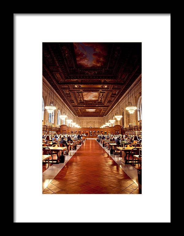 Library Framed Print featuring the photograph Silence In The Library II by Heidi Reyher
