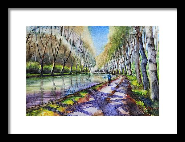 Colourful Framed Print featuring the painting Silence Of Midday Sun by Shirley Peters
