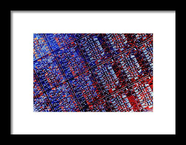 Photovoltaic Cell Framed Print featuring the photograph Silicon Wafer by Laguna Design