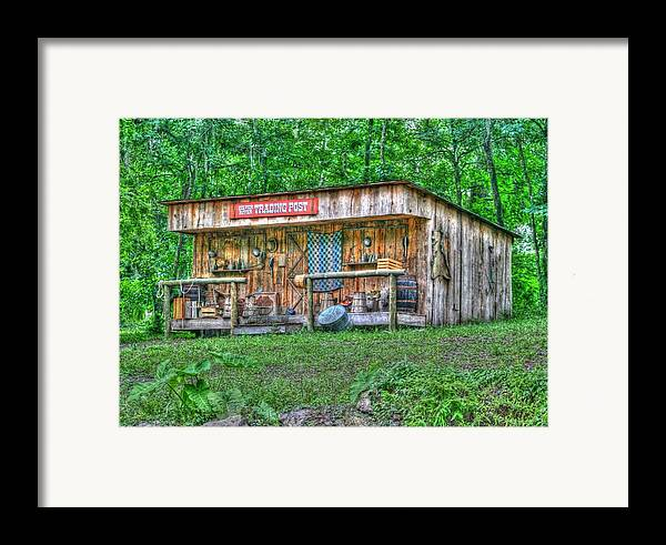 historic Site Framed Print featuring the photograph Silver River Trading Post by Myrna Bradshaw