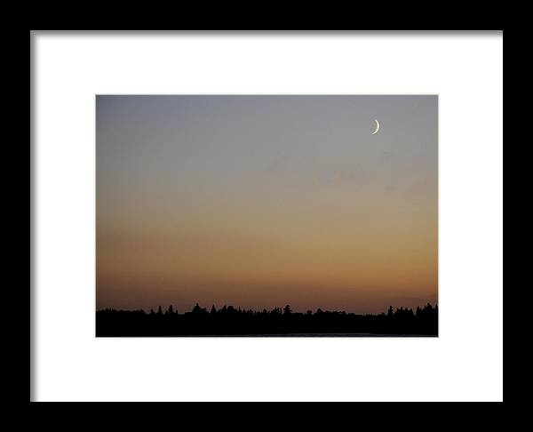 Lake Framed Print featuring the photograph Silver Slipper Of A Moon by Leanne Jijian Hume