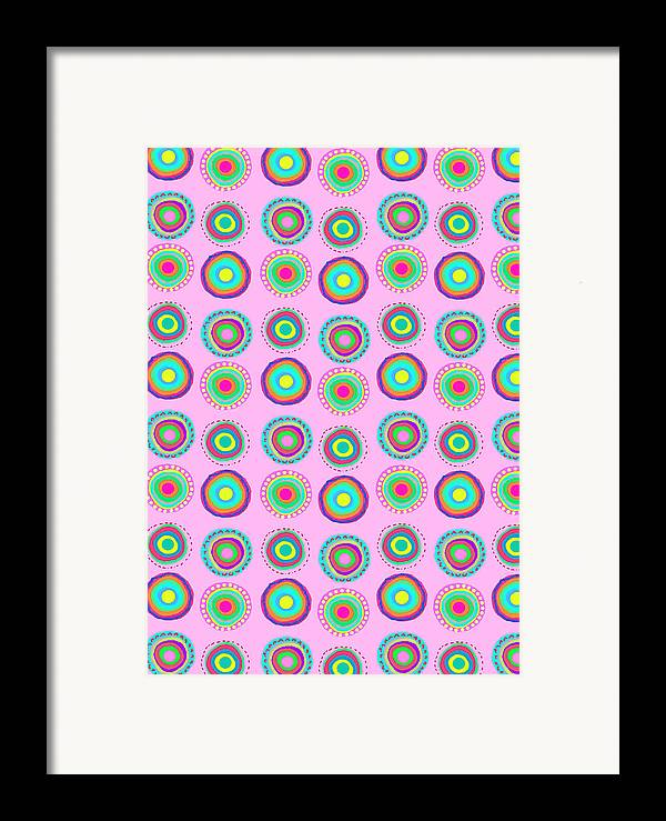Simple Spots (digital) By Louisa Knight (contemporary Artist) Framed Print featuring the digital art Simple Spots by Louisa Knight