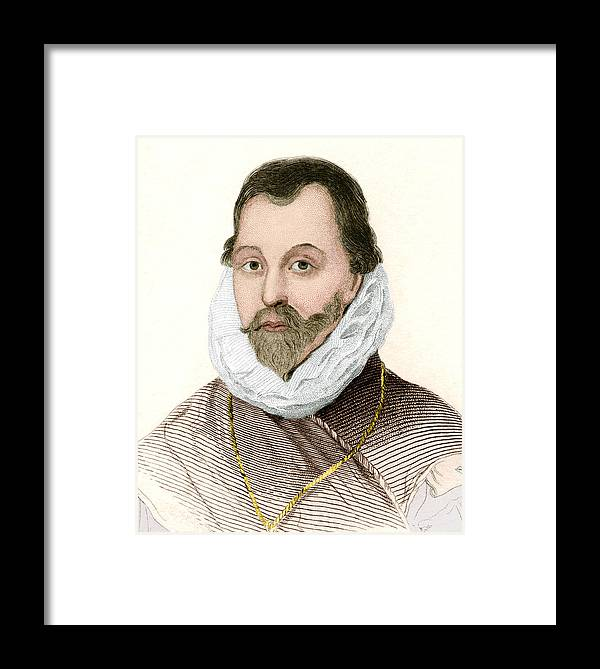 Drake Framed Print featuring the photograph Sir Francis Drake, English Explorer by Sheila Terry