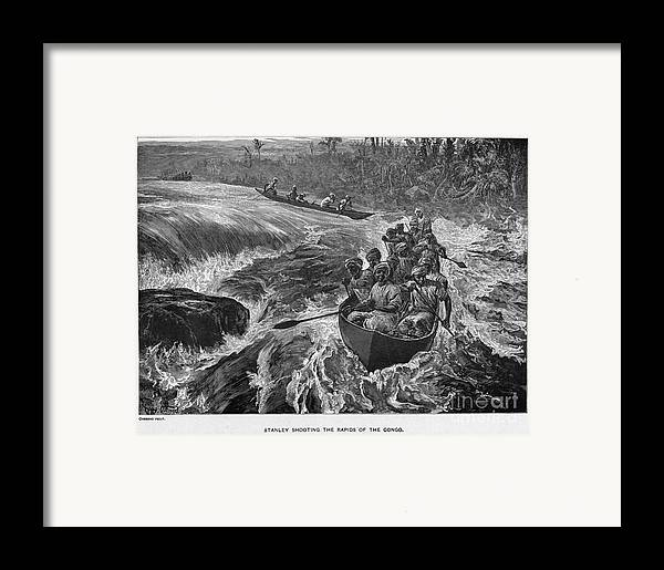 1880 Framed Print featuring the photograph Sir Henry Morton Stanley (1841-1904). English Journalist And Explorer; Wood Engraving, 1880 by Granger