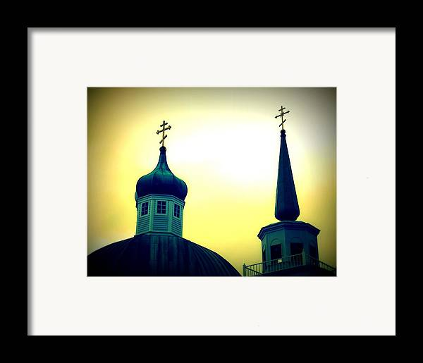 Architecture Framed Print featuring the painting Sitka Russian Orthodox 9 by Randall Weidner