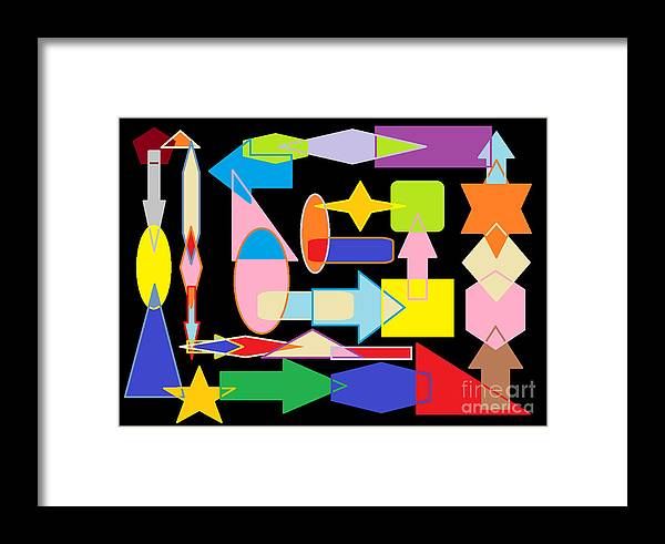 Framed Print featuring the digital art Six Ninety Eight by Don Fineberg
