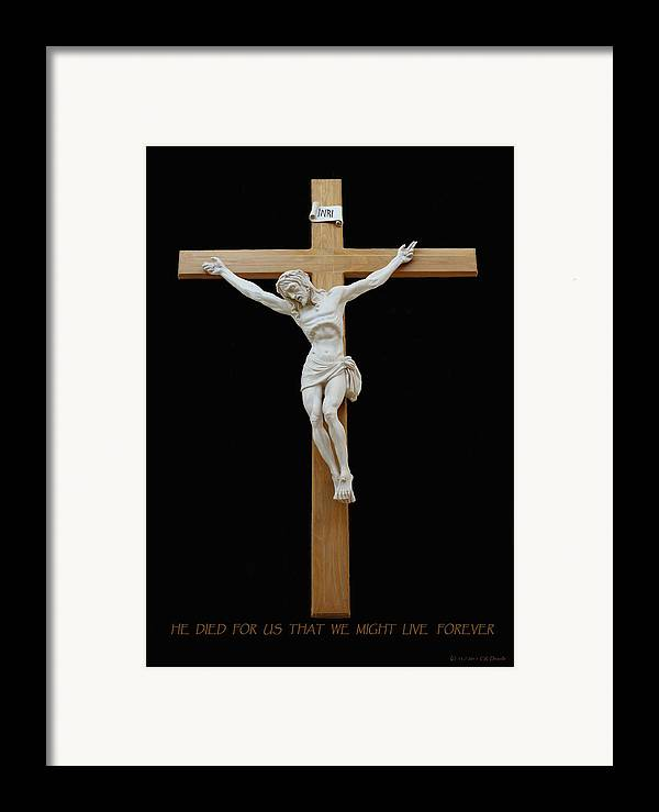 Jesus Framed Print featuring the photograph Sjncc Crucifix 1 Two K Eleven by Carl Deaville