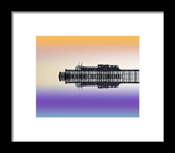 Pier Framed Print featuring the photograph Skeletal Beauty by Sharon Lisa Clarke