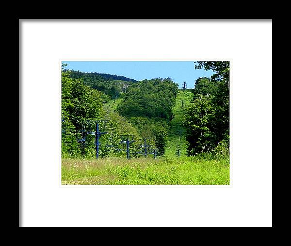 August Framed Print featuring the photograph Ski Runs In Early August by Frank Wickham