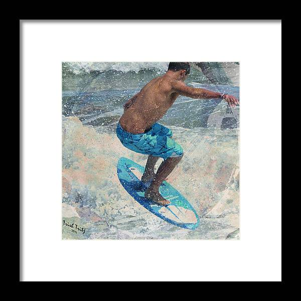 Skimboard Framed Print featuring the photograph Skimboardin' In Dewey by Trish Tritz