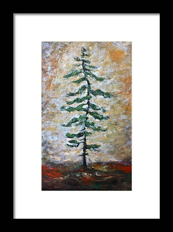 Tree Framed Print featuring the painting Skinny White Pine by Lisa Masters