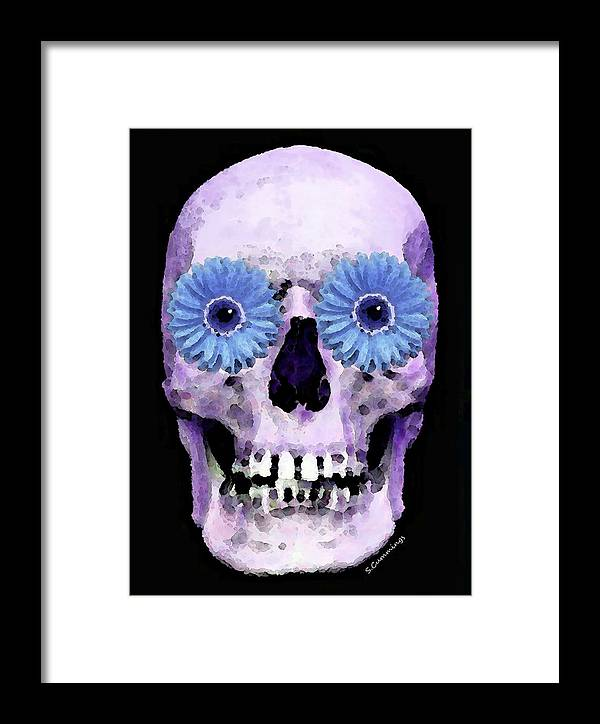 Skull Framed Print featuring the painting Skull Art - Day Of The Dead 3 by Sharon Cummings