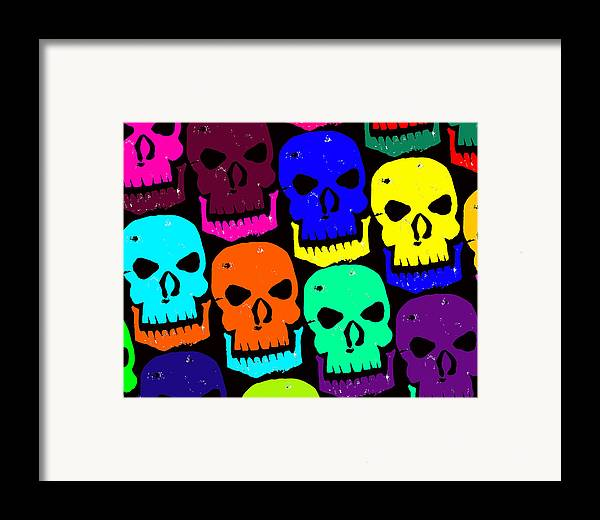 Halloween! Framed Print featuring the photograph Skulls by Jame Hayes
