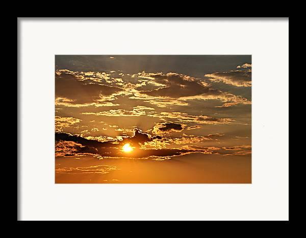 Sun Framed Print featuring the photograph Sky Ablaze 1 by Marty Koch