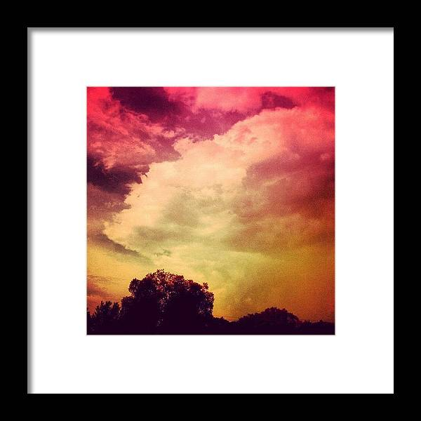 Love Framed Print featuring the photograph #sky #cary #colourful #clouds ☁ by Katie Williams