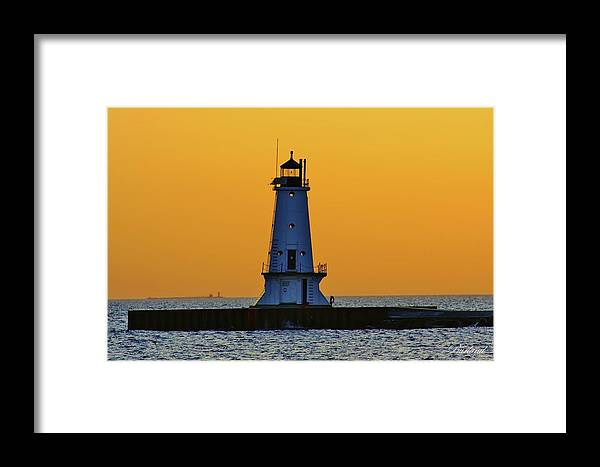 Burland Framed Print featuring the photograph Sky Of Gold by Burland McCormick